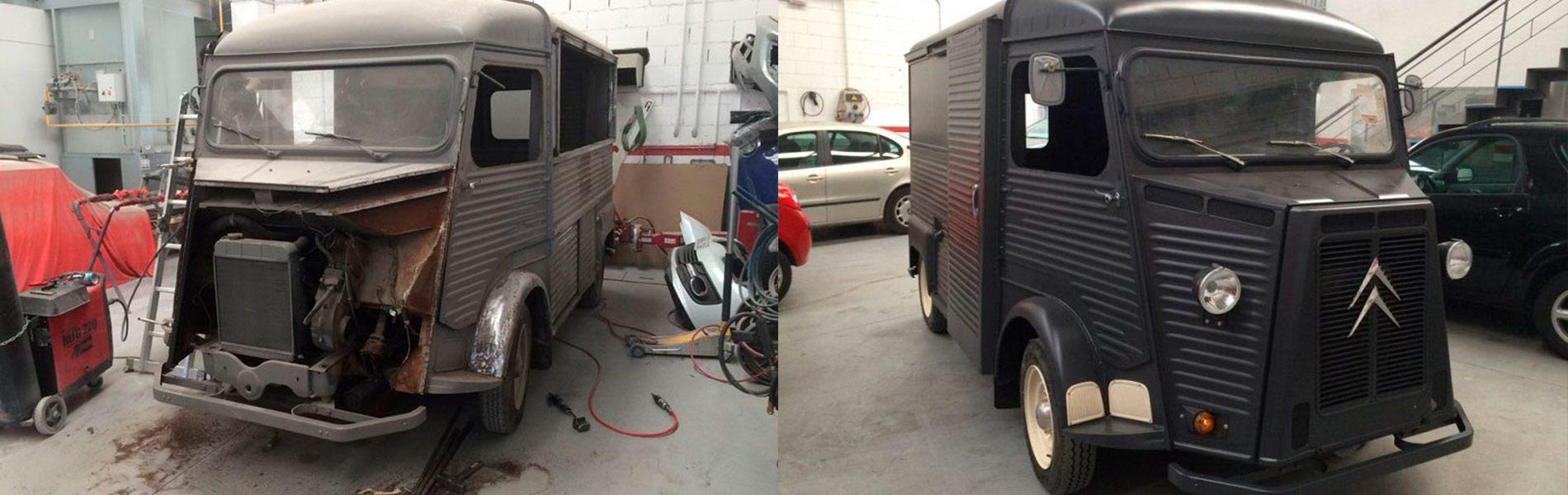 Carrocerías Lomillos Berrocosa restauración vehiculos clasicos
